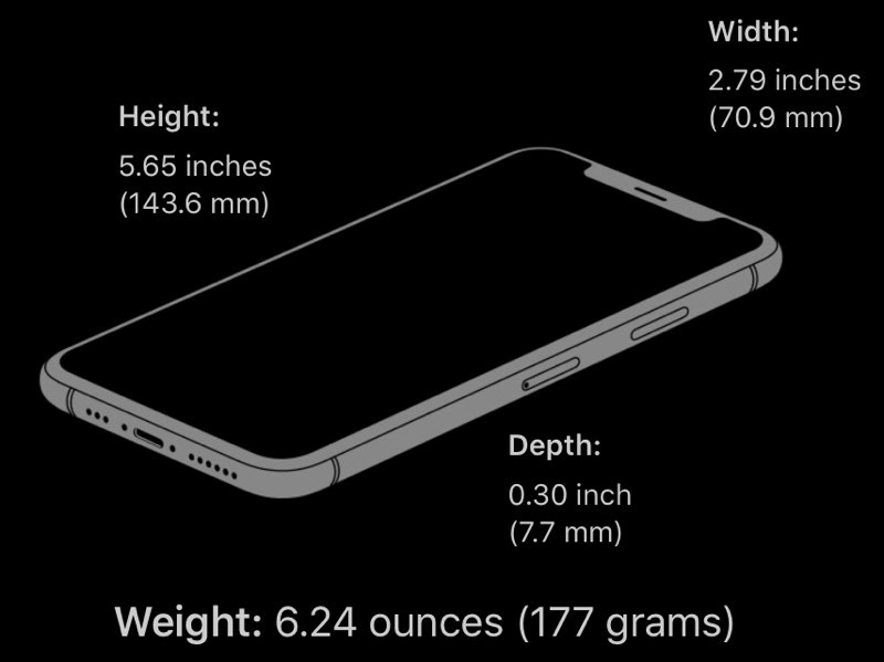 تفاوت وزنی آیفون XS با آیفون X
