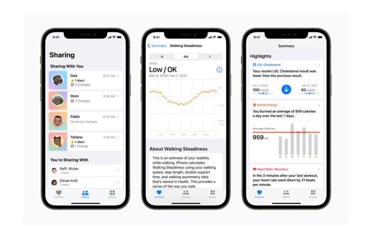 اپل از ویژگی های جدید برنامه health رونمایی کرد