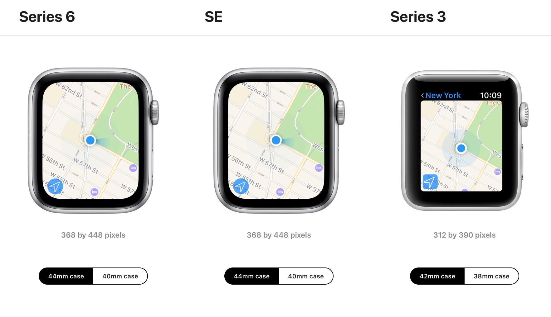 اپل واچ سری ۶ و SE در دو سایز ۴۰ و ۴۴ میلیمتری